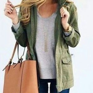 MADEWELL FLEET JACKET DESERT OLIVE GREEN MEDIUM